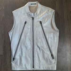 Maison Martin Margiela silver leather vest